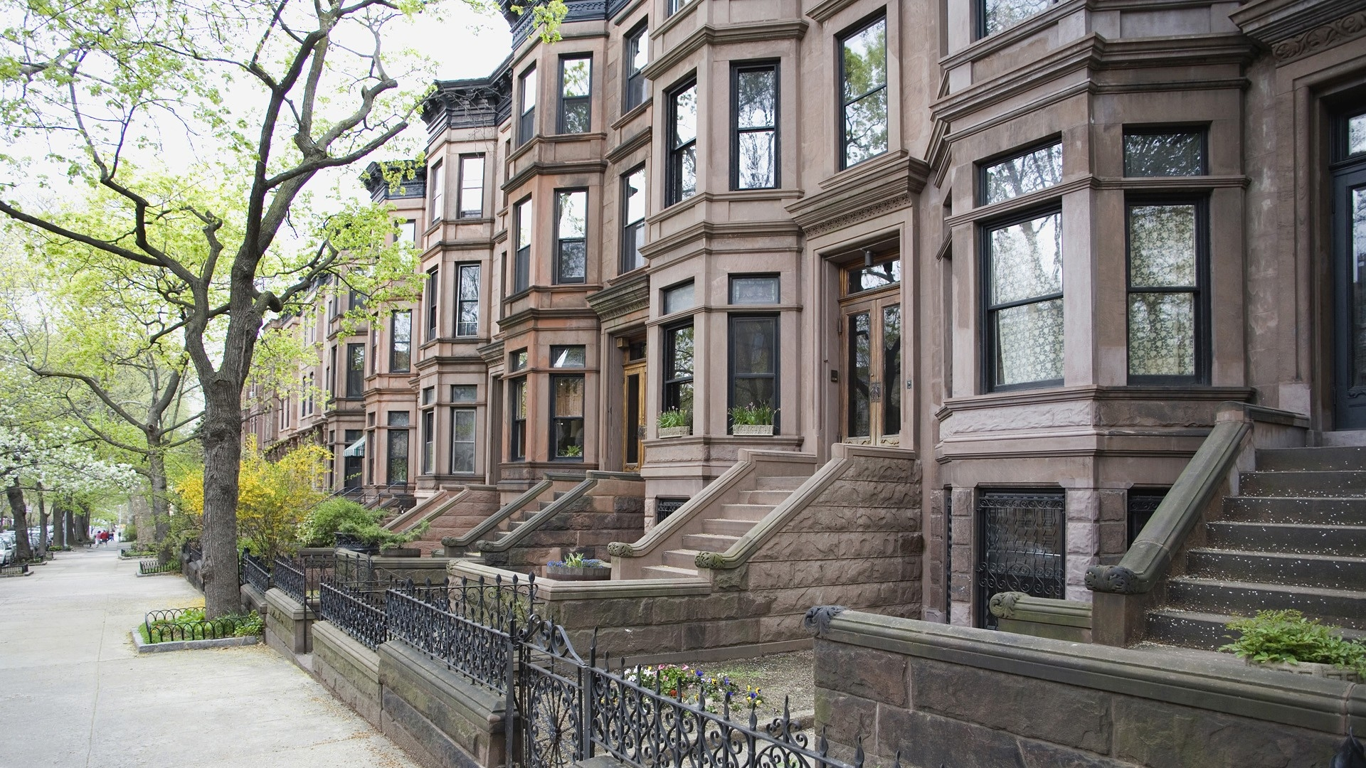 Download Wallpaper 1920x1080 New York Home Street Road Full Hd 1080p Hd Background