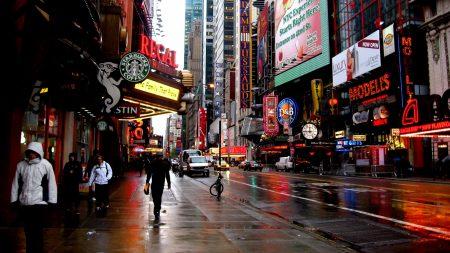 new york, overcast, advertising