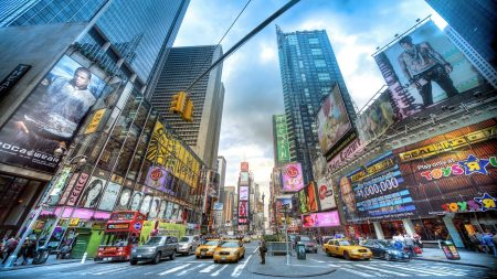 new york, street, buildings