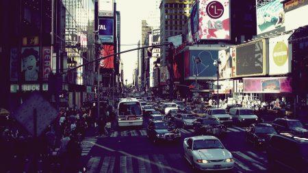 new york, street, cars