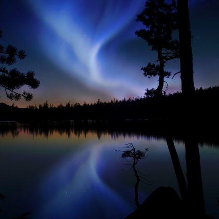 night sky, glow, light