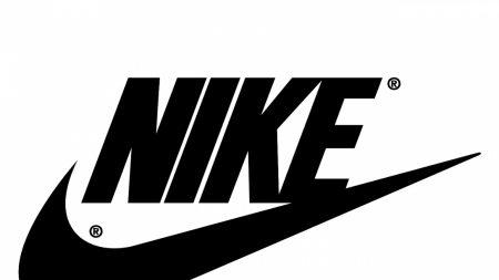nike, black white, logo