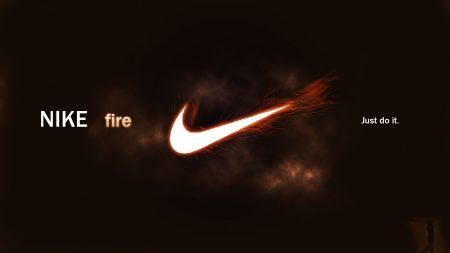 nike fire, logo, sports brand