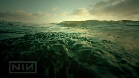 nine inch nails, sea, waves