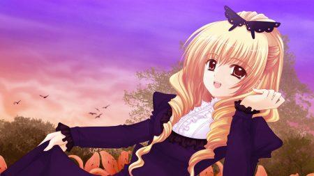 nishimata aoi, girl, blond