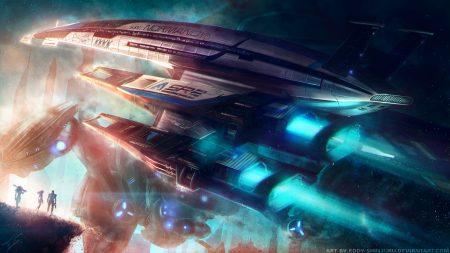 normandy, mass effect, spaceship