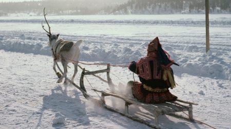 northern pole, eskimo, sledge
