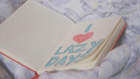notebook, book, leaves