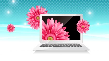 notebook, flowers, picture