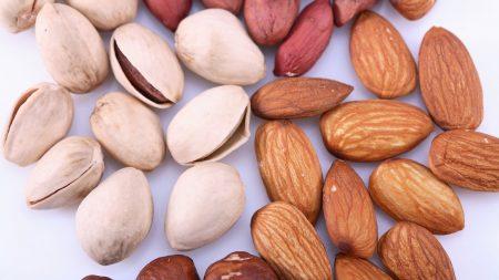 nuts, pistachios, almonds