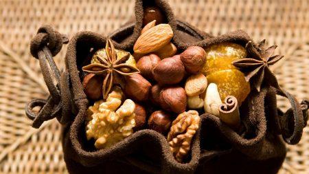 nuts, wood, cinnamon