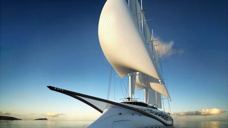 ocean, boat, sail