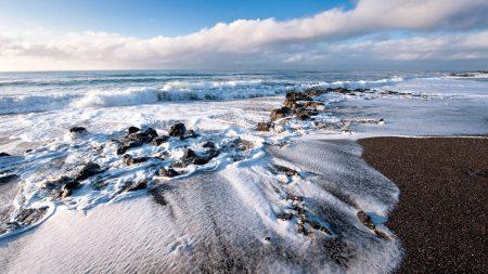 ocean, foam, wave