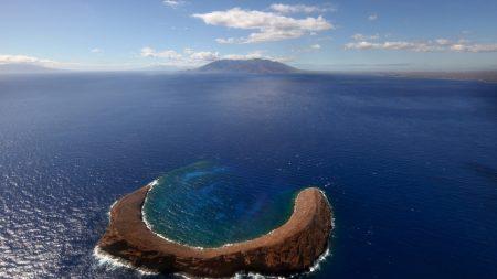 ocean, island, arch