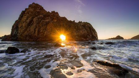 ocean, sea, rock