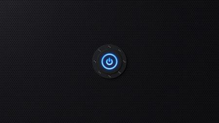 off, button, hexagon