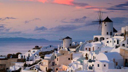 oia, greece, city