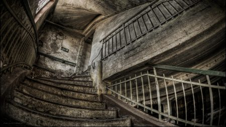 old building, ruins, stairs