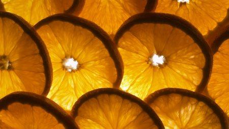 orange, slices, shape