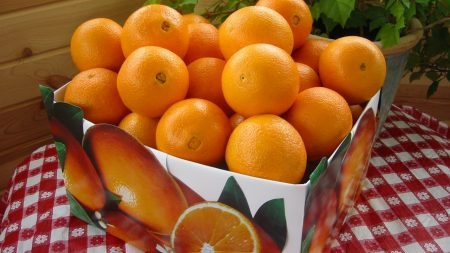 oranges, box, citrus