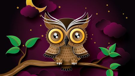 owl, bird, art