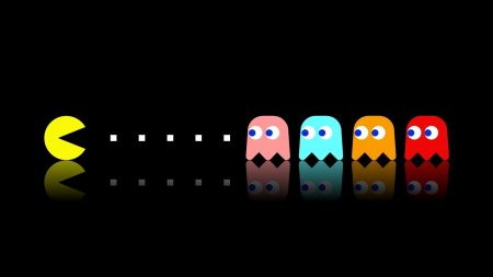 pacman, game, multi-colored
