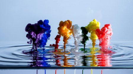 paint, water, liquid