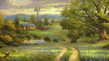 painting, art, landscape