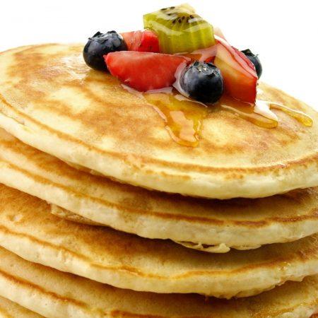 pancakes, honey, fritters