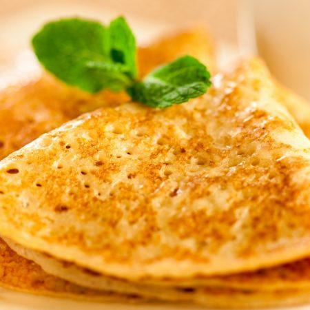pancakes, mint, fried