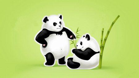 panda, couple, threat