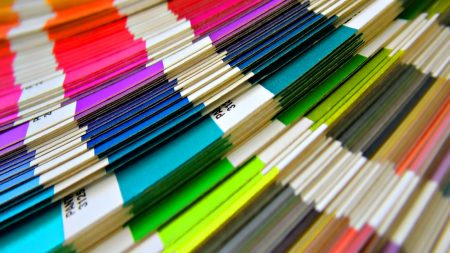 paper, colored, stack
