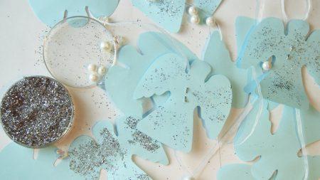 paper, shape, glitter