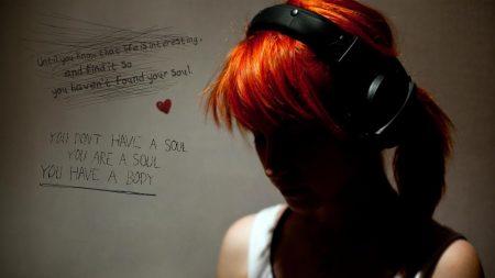 paramore, headphones, girl