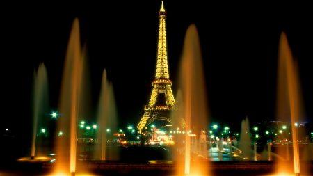 paris, fountain, tower