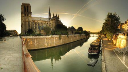 paris, notre dame cathedral, river