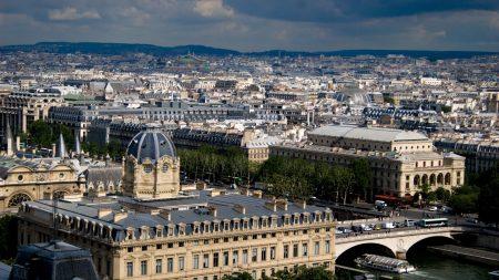 paris, top view, city
