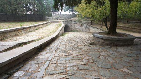 park, china, stones