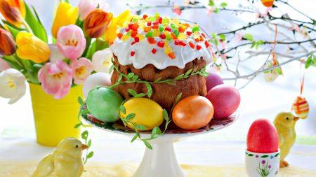 pascha, eggs, cake