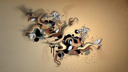 pattern, flowers, vector