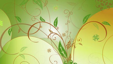 pattern, leaves, vector