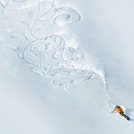 pattern, snowboard, snow