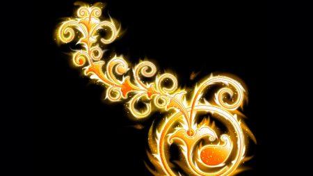 patterns, glow, light