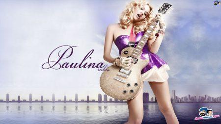 paulina rubio, girl, guitar