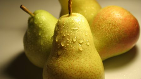 pear, green, drops