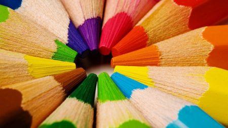 pencils, multicolored, sharp