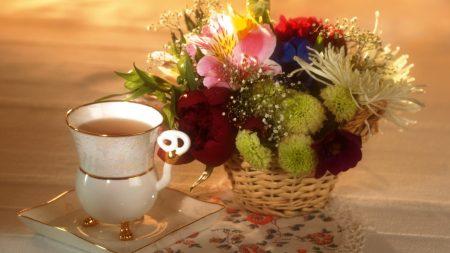 peonies, lilies, chrysanthemums