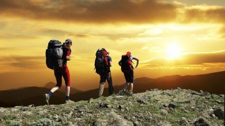 people, mountains, athletes