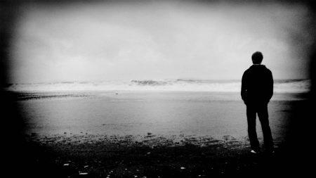 people, shore, solitude