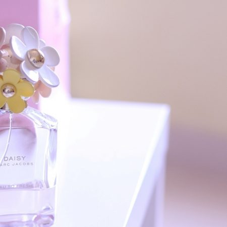 perfume, flowers, bottle